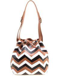 Missoni - Brown/ Printed Bucket Bag - Lyst