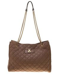 83b06b8bf970 Marc Jacobs - Quilted Leather Juliette Chain Handle Tote - Lyst