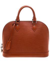 Louis Vuitton - Piment Epi Leather Alma Pm Bag - Lyst