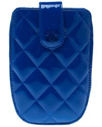 Chanel - Dark Quilted Patent Leather Iphone 4s Holder - Lyst