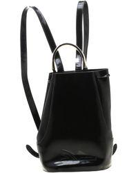 Ferragamo - Black Patent Leather Backpack - Lyst