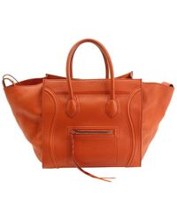 Céline - Pre-owned Luggage Phantom Leather Bowling Bag - Lyst