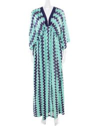 Missoni - Mare Bicolor Chevron Patterned Knit Beach Cover Up Kaftan S - Lyst