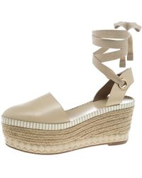 20ff524f260f9c Tory Burch - Leather Dandy Ankle Wrap Espadrille Wedge Sandals - Lyst
