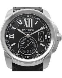 Cartier - Black Stainless Steel Calibre De Men's Wristwatch 42mm - Lyst
