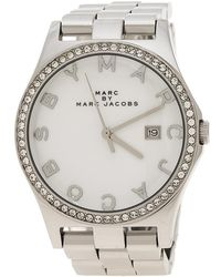 Marc By Marc Jacobs - White Stainless Steel Crystal Mbm3044 Women's Wristwatch 38 Mm - Lyst