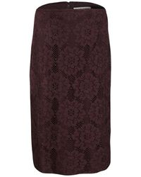 Burberry - London Floral Lace High Waist Skirt S - Lyst