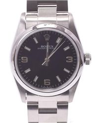 Rolex - Black Stainless Steel Oyster Perpetual Women's Wristwatch 29mm - Lyst