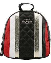 Moschino - Love Embossed Quilted Leather Backpack - Lyst