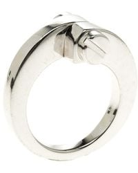 Cartier - Menotte 18k White Gold Ring - Lyst