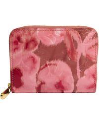 3694c016d40d Louis Vuitton - Rose Velours Monogram Vernis Ikat Limited Edition Zippy Coin  Purse - Lyst