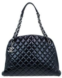 Chanel - Calfskin Large Quilted Mademoiselle Bag - Lyst