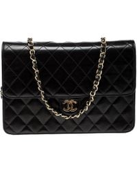 Chanel - Quilted Leather Medium Vintage Classic Single Flap Bag - Lyst