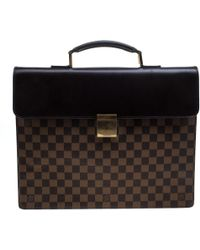 Louis Vuitton - Altona Ebene Toile Damier Ebene Business Bag - Vintage - Lyst