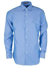 Roberto Cavalli - Cotton Dobby Jacquard Long Sleeve Slim Fit Shirt L - Lyst