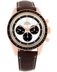 Omega - Black/white 18k Rose Gold Speedmaster Numbered Edition Men's Wristwatch 40mm - Lyst
