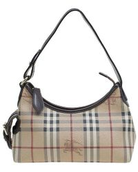 41c9a7eae1fa Burberry - Classic Check Coated Canvas Side Pocket Shoulder Bag - Lyst