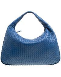 786f7e5350 Lyst - Bottega Veneta Veneta Intrecciato Large Shadow Hobo Bag in Gray