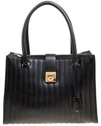Ferragamo - Vertical Quilted Leather Juliette Tote - Lyst