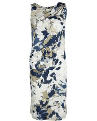 Etro - Watercolor Effect Floral Printed Knit Sleeveless Dress S - Lyst