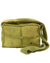 Chanel - Sheepskin Patchwork Shoulder Bag - Lyst