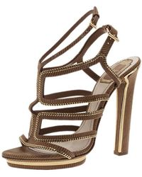 Dior - Leather Sandals - Lyst