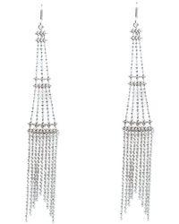 Tiffany & Co. - Beaded Fringe Tower 18k White Gold Long Hook Earrings - Lyst