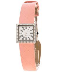 Chanel - Vintage Diamond Stainless Steel Mademoiselle Women's Wristwatch 22mm - Lyst