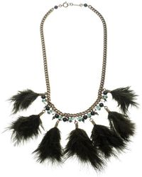 Isabel Marant - Dark Feather Gold Tone Necklace - Lyst
