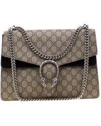 13e165fd19ff Gucci Dionysus Gg Supreme Shoulder Bag Medium Crystals Beige/pink in ...