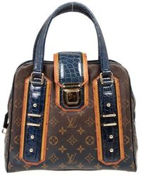 a33f54afcd9 Louis Vuitton - Limited Edition Monogram Mirage Delft Exotic Bag - Lyst
