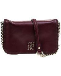 Carolina Herrera - Leather New Baltazar Crossbody Bag - Lyst