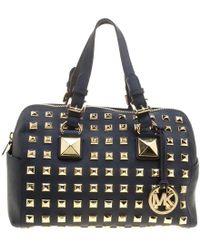 396c1791cfc1d ... wholesale michael michael kors leather studded grayson satchel lyst  47a7e c2661