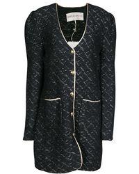 Emilio Pucci - Wool Lurex Knit Detail Coat Xl - Lyst