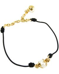 Louis Vuitton - Knotty Pearls Leather And Gold Tone Choker Necklace - Lyst