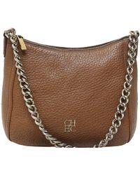 Carolina Herrera - Leather Chain Shoulder Bag - Lyst