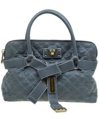0d113582f829 Marc Jacobs - Grey Quilted Leather Bruna Belted Tote - Lyst