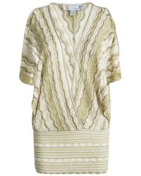 M Missoni - Perforated Lurex Knit Crossover Top L - Lyst