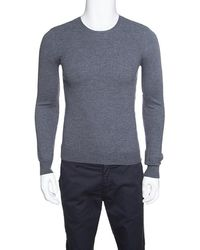 9e82021100d5 Burberry - Brit Merino Wool Novacheck Shoulder Detail Sweater M - Lyst