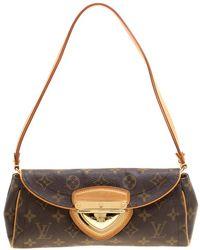Louis Vuitton - Monogram Canvas Beverly Clutch Bag - Lyst