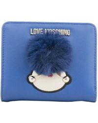 Moschino - Love Blue Faux Leather Coin Purse - Lyst