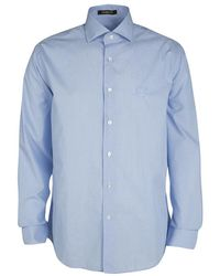 Roberto Cavalli - Cotton Long Sleeve Button Front Slim Fit Shirt 3xl - Lyst