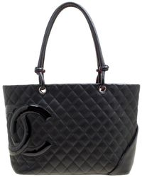 Chanel - Quilted Leather Large Ligne Cambon Tote - Lyst