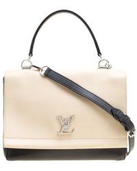 003b1d2307bd Lyst - Louis Vuitton Rose Ballerine Leather And Python Lockme Mm Bag ...