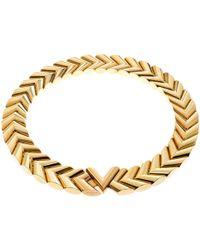 Louis Vuitton - Unchain V Tone Choker Necklace - Lyst