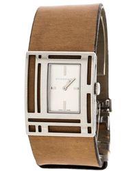 Burberry - Silver White Stainless Steel Bu4651 Women's Wristwatch 30 Mm - Lyst