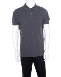11291fa2f CH by Carolina Herrera - Grey Honeycomb Knit Logo Embroidered Polo T-shirt  M -