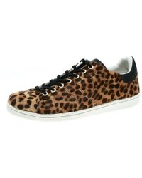 0a829b70e0dd Isabel Marant - Brown Leopard Print Calf Hair Bart Low Top Sneakers Size 39  - Lyst