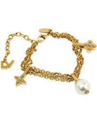 Louis Vuitton - Charmy Pearl Tone Soft Bracelet - Lyst