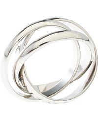 Cartier - Or Amour Et Trinity 18k White Gold 3 Band Ring Size 57 - Lyst